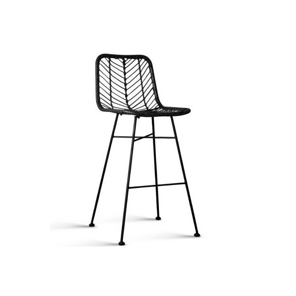 Arhana Set of 2 Wicker Bar Stools