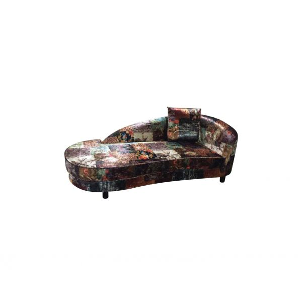 Pirdop Chaise-Digital Patchwork Fabric