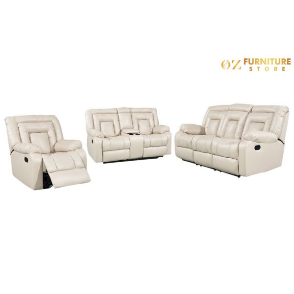 Capri Recliner Leather Lounges 3+2+1