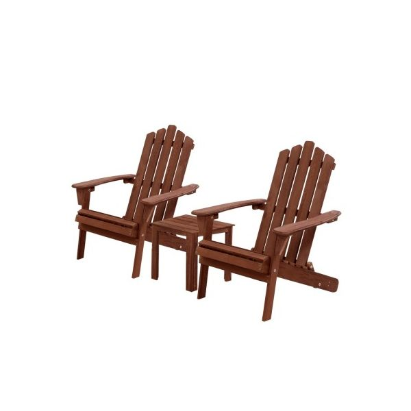 Parkin 3PC Outdoor Beach Chairs Table