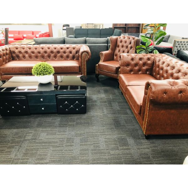 CHESTERFIELD LOUNGE 3 + 2 SEATER PLUS BONUS WING CHAIR (LIMITED TIME)
