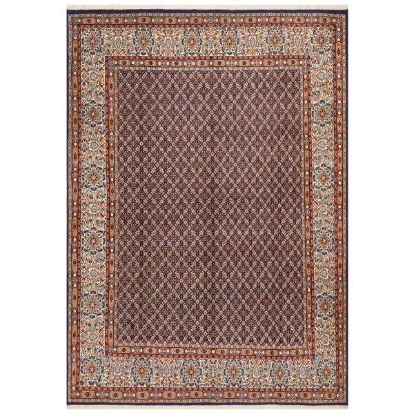 Hand Knotted Persian Moud Rug - Purple: 347X250CM
