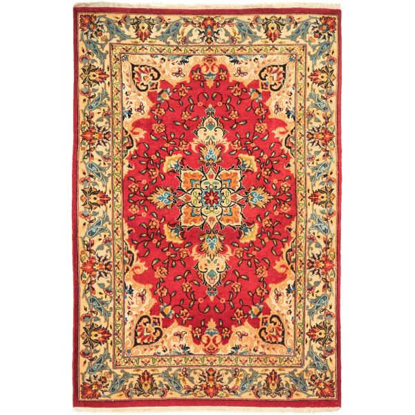 Hand Knotted Persian Zabol Rug: 147X97CM