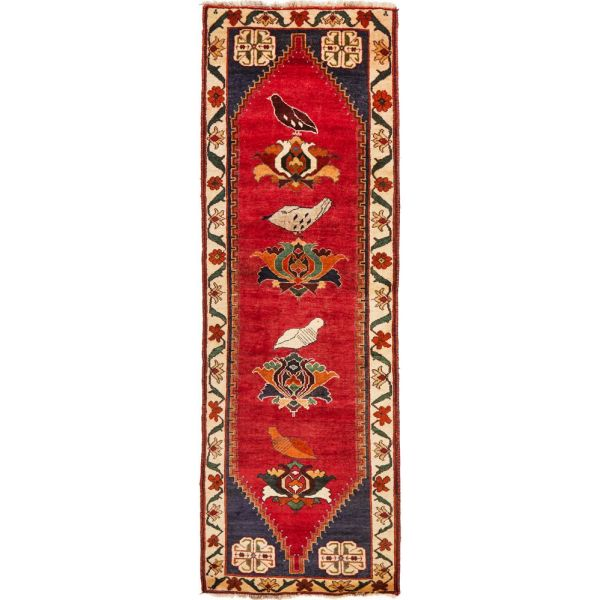 Hand Knotted Gabbeh Wool Rug: 272X80CM