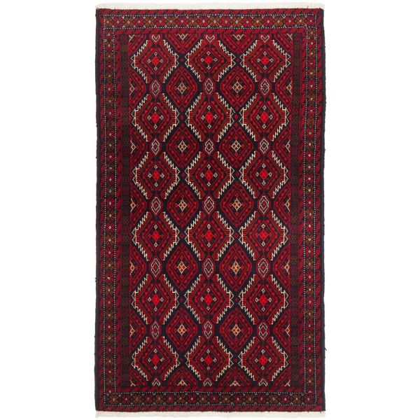 Hand Knotted Fine Quality Balouchi Rug: 192X105CM