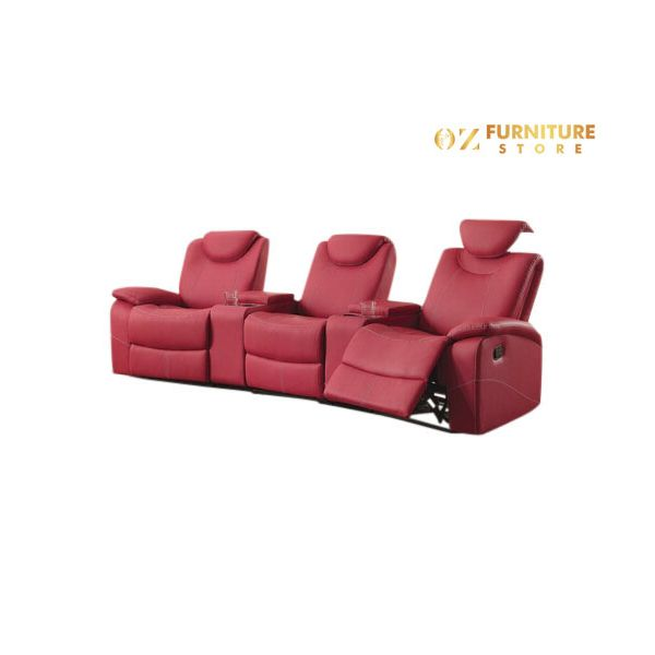 Tineo Theater Leather Lounge (3 Seater)