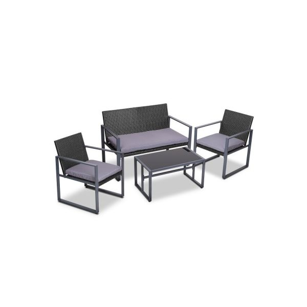 Parkin 4PC Outdoor Patio Table Chair