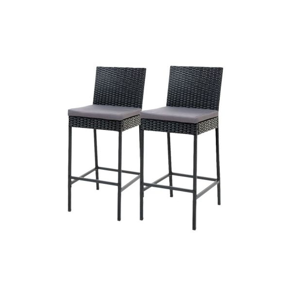 2X Parkin Rattan Dining Chairs