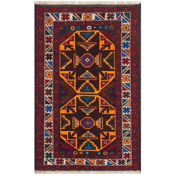 Hand Knotted Afghan Balouch: 117X74CM