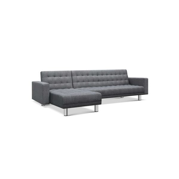 Comfort Modular Fabric-Leather Sofa Bed