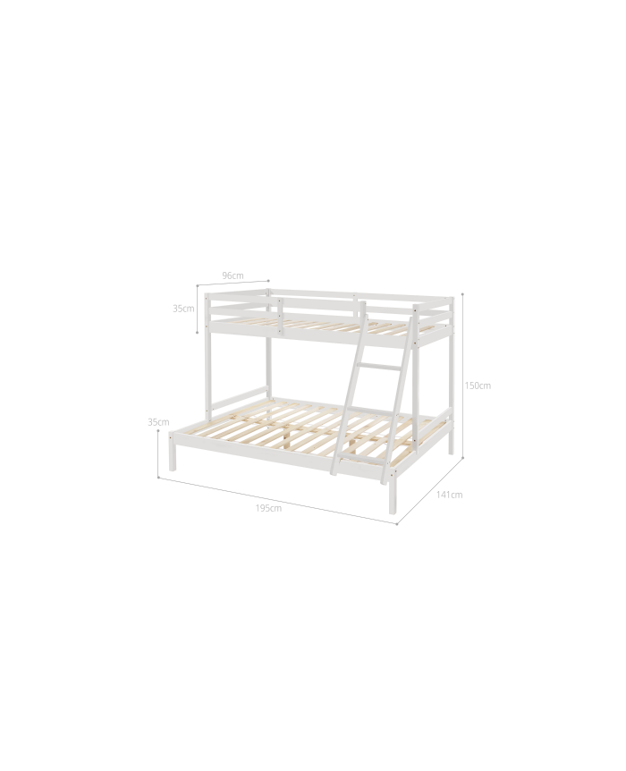Strong Timber Bunk Bed Single Over Double